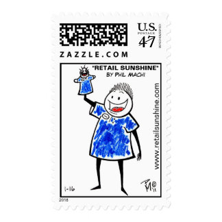 """Retail Sunshine"" Puppet Stamp"