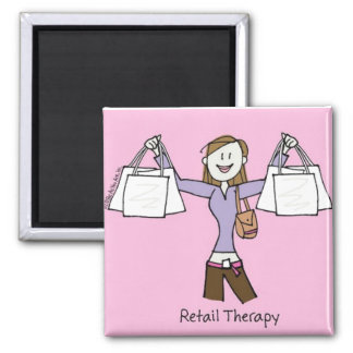Retail Therapy 2 Inch Square Magnet