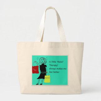 Retail Therapy...Always Makes Me Feel Better Canvas Bags