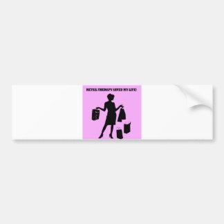 retail therapy bumper sticker