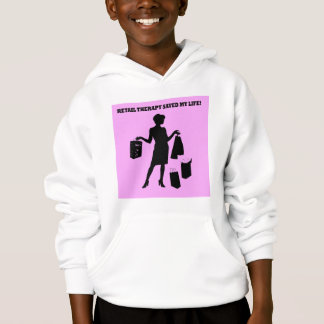 retail therapy hoodie