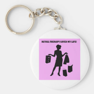 retail therapy keychains