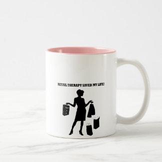 Retail therapy Two-Tone coffee mug