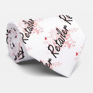 Retailer Artistic Job Design with Butterflies Neck Tie