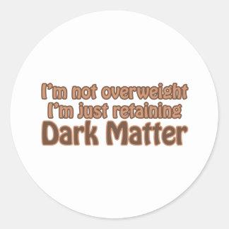 Retaining Dark Matter Stickers