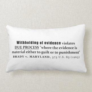 Retención de la jurisprudencia de Brady v Maryland Cojín