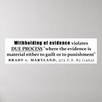 Retención de la jurisprudencia de Brady v Maryland Póster