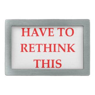 RETHINK RECTANGULAR BELT BUCKLE
