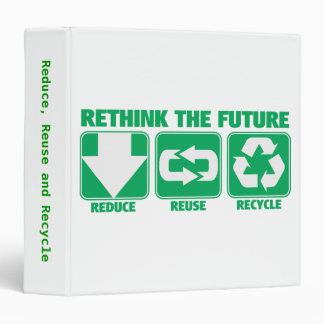 Rethink The Future, Recycle 3 Ring Binder