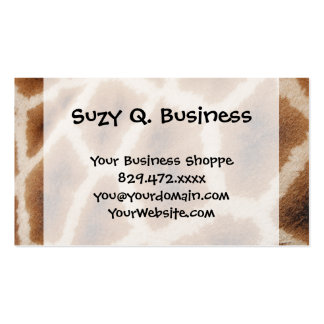 Reticulated Giraffe Pattern Wild Animal Print Gift Business Card