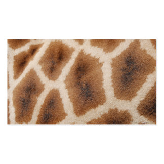 Reticulated Giraffe Pattern Wild Animal Print Gift Business Card Templates