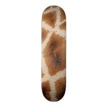 Reticulated Giraffe Pattern Wild Animal Print Gift Skateboard Deck