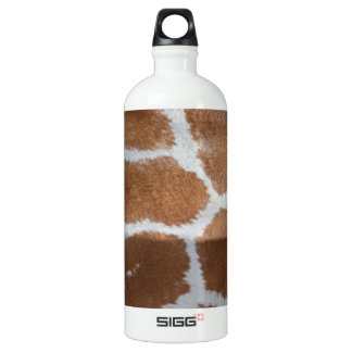 reticulated giraffe skin print aluminum water bottle