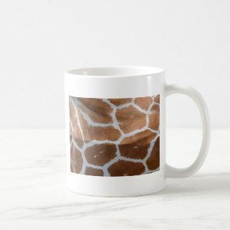 reticulated giraffe skin print coffee mug