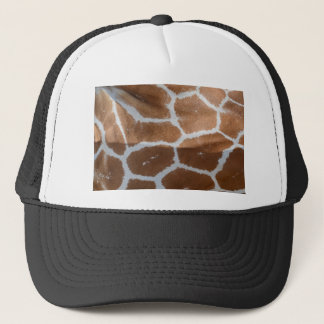 reticulated giraffe skin print trucker hat