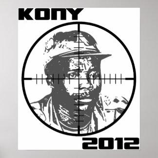 Retículos 2012 de la blanco de Kony José Kony Posters