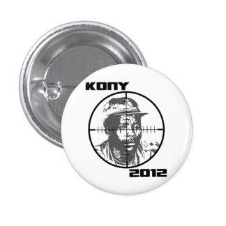 Retículos 2012 de la blanco de Kony José Kony Pin Redondo De 1 Pulgada