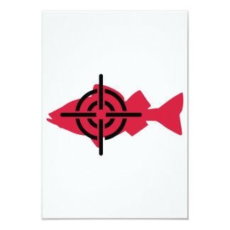 Retículos del cazador de la pesca invitación 8,9 x 12,7 cm