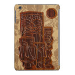 Retina Tiki Sun del iPad de madera de la tabla Fundas De iPad Mini Retina