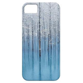 retina wallpaper art abstract ice tree cool snow w iPhone SE/5/5s case