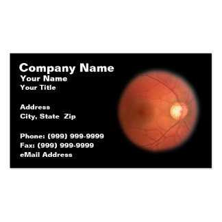 Retinal Eye Scan Against a Black Background Business Card