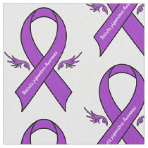 Retinitis pigmentosa Awareness Ribbon with Wings Fabric