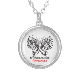 Retinoblastoma Awareness Butterfly Round Pendant Necklace