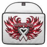 Retinoblastoma Awareness Heart Wings Sleeve For MacBooks