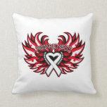 Retinoblastoma Awareness Heart Wings Pillow