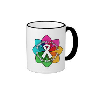 Retinoblastoma Awareness Matters Petals Ringer Coffee Mug