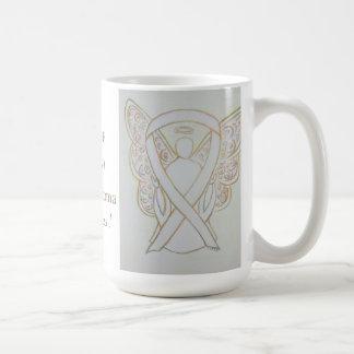 Retinoblastoma Awareness Ribbon Angel Custom Mug