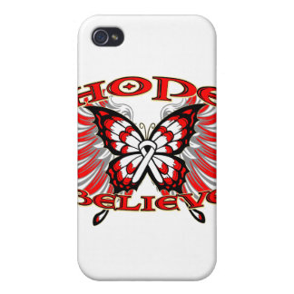 Retinoblastoma Cancer Hope Believe Butterfly Covers For iPhone 4