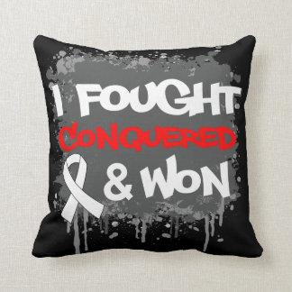 Retinoblastoma Cancer I Fought Conquered Won Throw Pillow