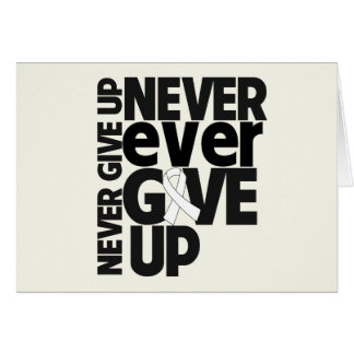Retinoblastoma Cancer Never Ever Give Up Greeting Card