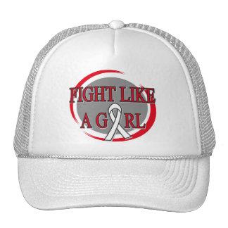 Retinoblastoma Fight Like A Girl Circular Mesh Hat