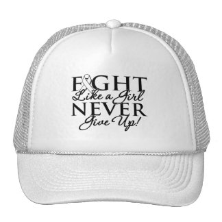 Retinoblastoma Fight Like a Girl Never Give Up Mesh Hats