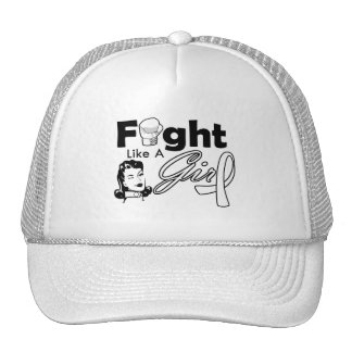 Retinoblastoma Fight Like A Girl - Retro Girl Hat