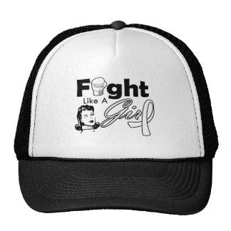 Retinoblastoma Fight Like A Girl - Retro Girl Hats