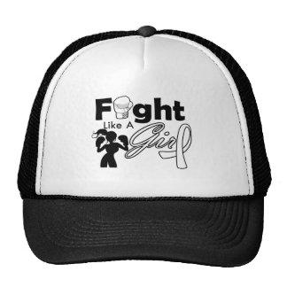Retinoblastoma Fight Like A Girl Silhouette Trucker Hat