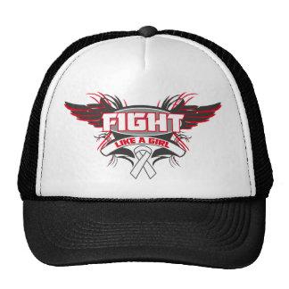 Retinoblastoma Fight Like a Girl Wings png Trucker Hat