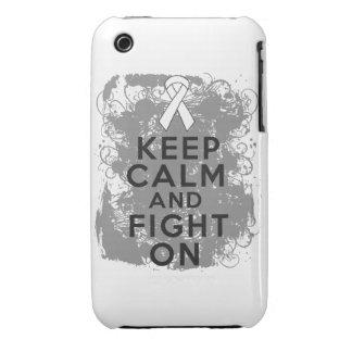Retinoblastoma guarda calma y sigue luchando iPhone 3 carcasas