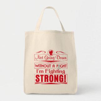 Retinoblastoma I Am Fighting Strong Grocery Tote Bag