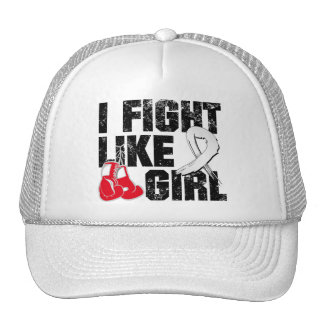 Retinoblastoma I Fight Like A Girl Grunge Trucker Hats