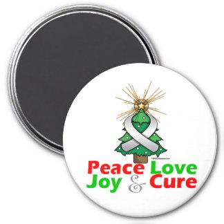 Retinoblastoma Peace Love Joy Cure 3 Inch Round Magnet