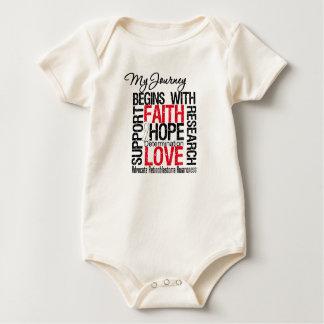 Retinoblastoma que mi viaje comienza con la fe trajes de bebé