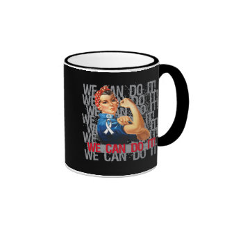 Retinoblastoma Rosie WE CAN DO IT Mugs