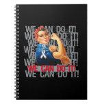 Retinoblastoma Rosie WE CAN DO IT Spiral Note Books