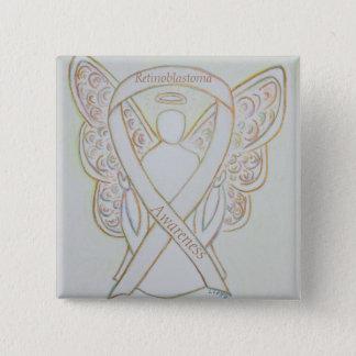 Retinoblastoma White Awareness Ribbon Angel Pin