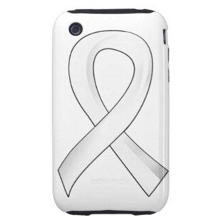 Retinoblastoma White Ribbon 3 iPhone 3 Tough Cover