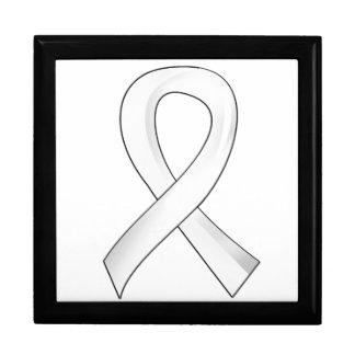Retinoblastoma White Ribbon 3 Gift Box